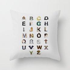 Star W. alphabet Throw Pillow