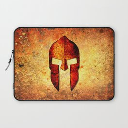 Spartan Helmet On Rust Background - Molon Labe Laptop Sleeve