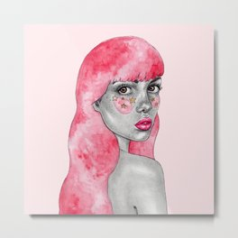 Pink haired stargirl Metal Print