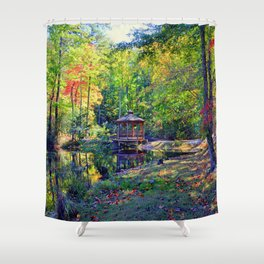 Walhalla City Park Shower Curtain