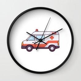 Ambulance Icon Wall Clock