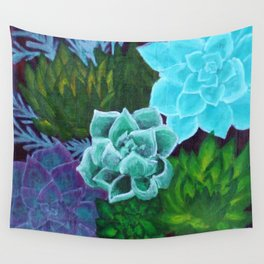 Mini Succulents Wall Tapestry