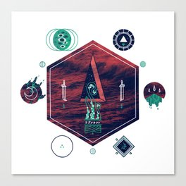 It fell from the stars, It rose from the sea Canvas Print