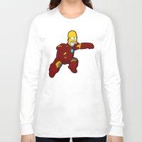 homer Long Sleeve T-shirts featuring IRON HOMER by Betmac