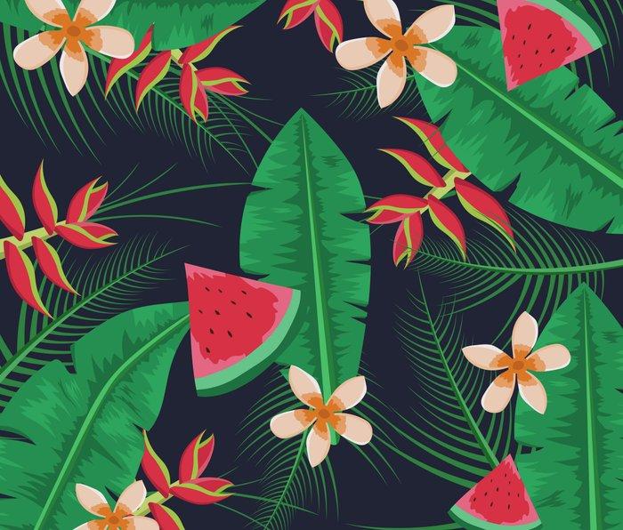 Tropical Watermelon Metal Travel Mug