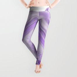 Soft Lavender Agate Dream #1 #gem #decor #art #society6 Leggings