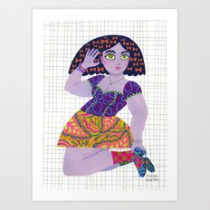 Bow Girl Art Print