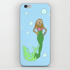 Sloth Mermaid iPhone & iPod Skin