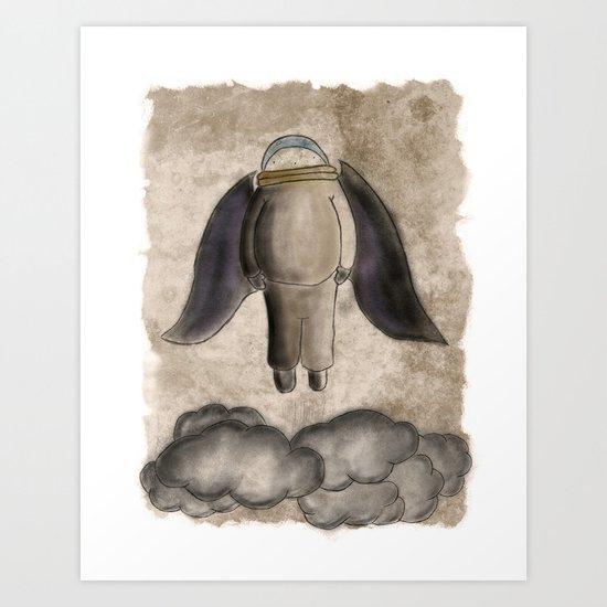 Volando Art Print