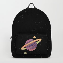Pink and Purple Ultraviolet Planet Backpack