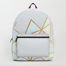 Gold & Pastel Geometric Pattern Backpack