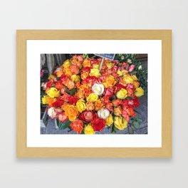 Bouquet of Parisienne Love Framed Art Print