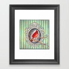 RED CARDINAL in FRAME Framed Art Print