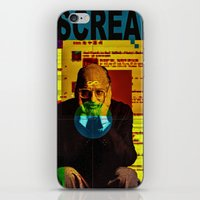 scream iPhone & iPod Skins featuring Scream by Alec Goss
