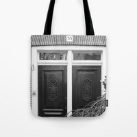 door Tote Bags featuring door by habish