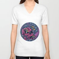 acid V-neck T-shirts featuring ACID TRIP by Robin Clarijs