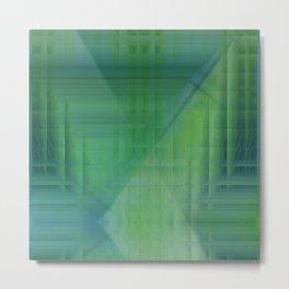 Greentones abstract Metal Print