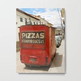 Pizzas, hamburguesas Metal Print