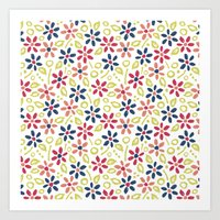 matisse Art Prints featuring Matisse Floral by Rosie Simons