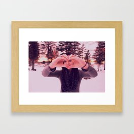 I Heart You.  Framed Art Print