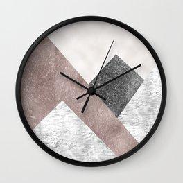 Rose grunge - mountains Wall Clock