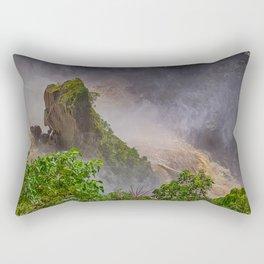 Rock showing in the waterfall Rectangular Pillow