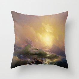 The Ninth Wave - Hovhannes Aivazovsky Throw Pillow