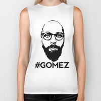 selena gomez Biker Tanks featuring Gomez - Black by Dominic DiMaria