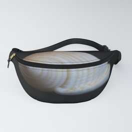 Sea Shell on Black V Fanny Pack
