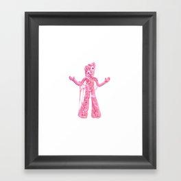 Bubble Gumby Framed Art Print