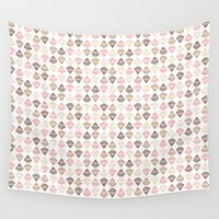 diamonds Wall Tapestries featuring Diamonds by i ♥ patterns