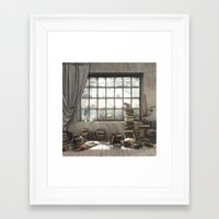 introvert Framed Art Prints featuring The Introvert by Cynthia Decker