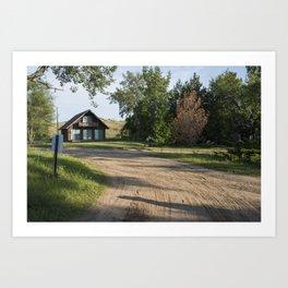 Lake Michigan Cottage Art Print