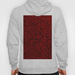 thought 2, red on black Hoody