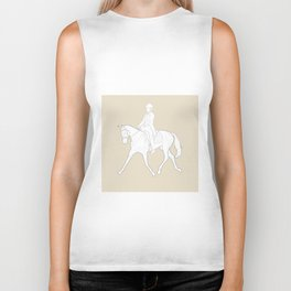 Dressage in Brown Biker Tank