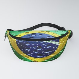 Flag of Brazil - Raindrops Fanny Pack
