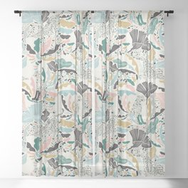 Surreal Wilderness / Colorful Jungle Sheer Curtain