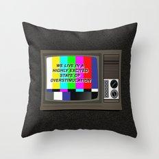Videodrome Throw Pillow