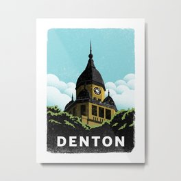 Denton Courthouse  Metal Print