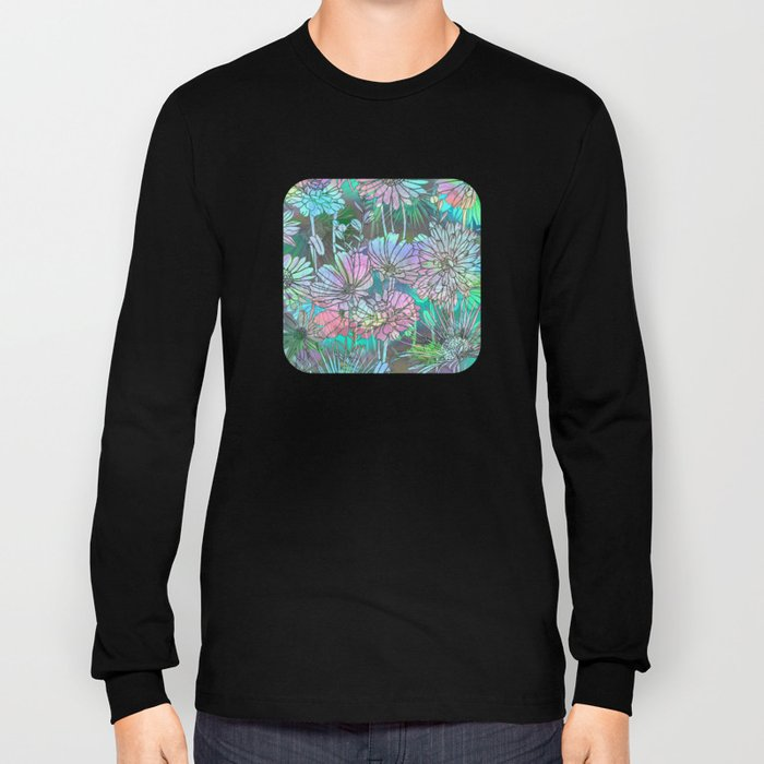 Spring Meadow Pattern Long Sleeve T-shirt