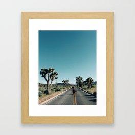 Loren in Joshua Tree Framed Art Print