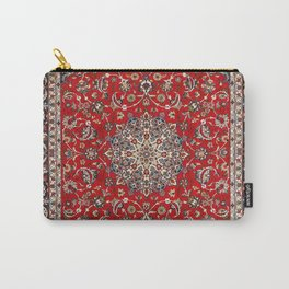 Fine Silk & Wool Isfahan Persian Rug Print Carry-All Pouch
