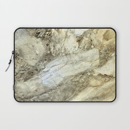 White Marble in Earth Tones Laptop Sleeve