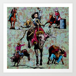 Rodeo Events Art Print