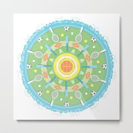 play outdoors mandala Metal Print