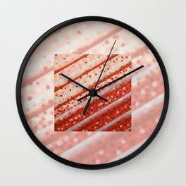 Diagonal Bars Wall Clock