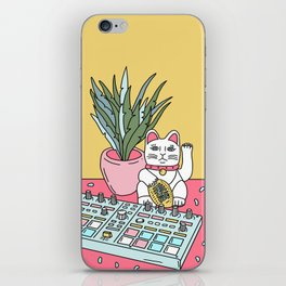 Sad cat pad iPhone Skin