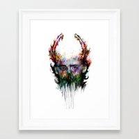 loki Framed Art Prints featuring loki by ururuty