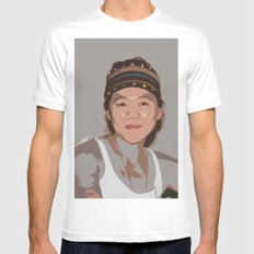 China Girl White MEDIUM Mens Fitted Tee