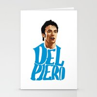 juventus Stationery Cards featuring Del Piero Name Blue by Sport_Designs